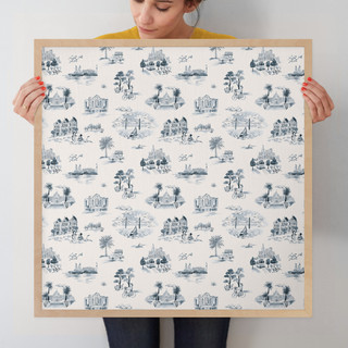 """San Francisco Modern Toile by Surface Love: 24"""" x 24"""" @ $125.00"""