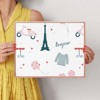 """Oui Oui by Kirstie Kern: 11"""" x 14"""" @ $66.00"""