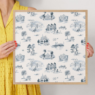 """San Francisco Modern Toile by Surface Love: 16"""" x 16"""" @ $70.00"""