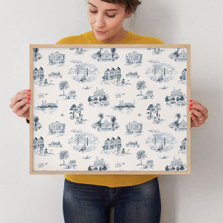 """San Francisco Modern Toile by Surface Love: 16"""" x 20"""" @ $78.00"""