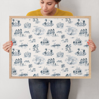 """San Francisco Modern Toile by Surface Love: 18"""" x 24"""" @ $94.00"""