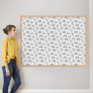 """San Francisco Modern Toile by Surface Love: 40"""" x 54"""" @ $230.00"""