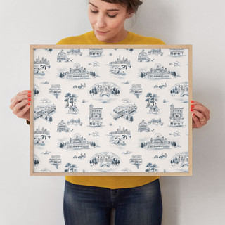 """Chicago Modern Toile by Surface Love: 16"""" x 20"""" @ $78.00"""