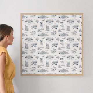 """Chicago Modern Toile by Surface Love: 30"""" x 30"""" @ $157.00"""