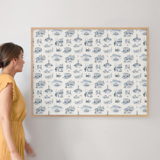 """NYC Modern Toile by Surface Love: 30"""" x 40"""" @ $174.00"""
