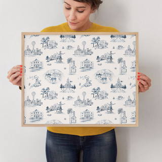 """Texas Modern Toile by Surface Love: 16"""" x 20"""" @ $78.00"""