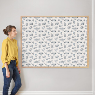 """Chicago Modern Toile by Surface Love: 40"""" x 54"""" @ $230.00"""