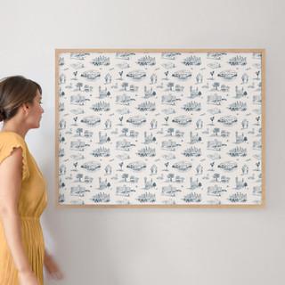 "Atlanta Modern Toile by Surface Love: 30"" x 40"" @ $174.00"