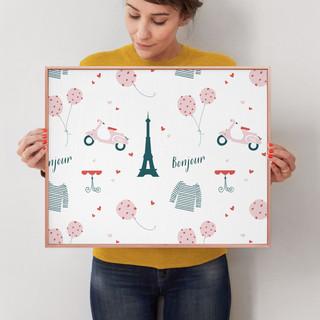 """Oui Oui by Kirstie Kern: 16"""" x 20"""" @ $78.00"""
