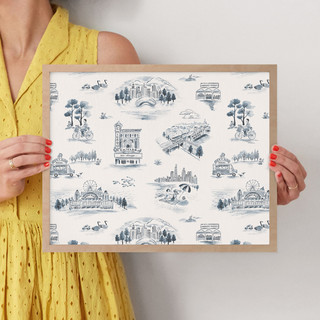 """Chicago Modern Toile by Surface Love: 16"""" x 16"""" @ $70.00"""