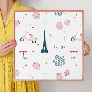"""Oui Oui by Kirstie Kern: 16"""" x 16"""" @ $70.00"""