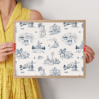 """Texas Modern Toile by Surface Love: 11"""" x 14"""" @ $66.00"""