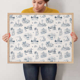 """Texas Modern Toile by Surface Love: 18"""" x 24"""" @ $94.00"""