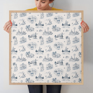"""Texas Modern Toile by Surface Love: 24"""" x 24"""" @ $125.00"""
