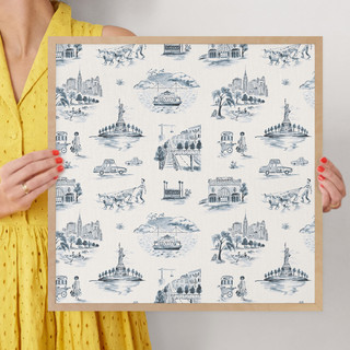 """NYC Modern Toile by Surface Love: 16"""" x 16"""" @ $70.00"""