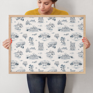 """Chicago Modern Toile by Surface Love: 18"""" x 24"""" @ $94.00"""