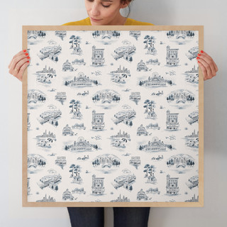 """Chicago Modern Toile by Surface Love: 24"""" x 24"""" @ $125.00"""