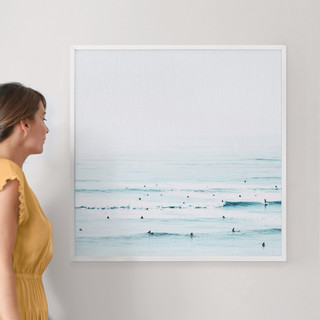 """The Sunday Blues by Summer Strauch: 30"""" x 30"""" @ $157.00"""