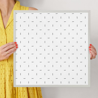 "Minimalist Grid by Erica Krystek: 16"" x 16"" @ $70.00"