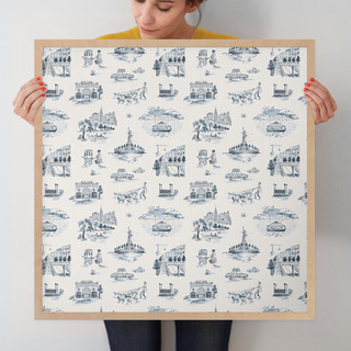 """NYC Modern Toile by Surface Love: 24"""" x 24"""" @ $125.00"""
