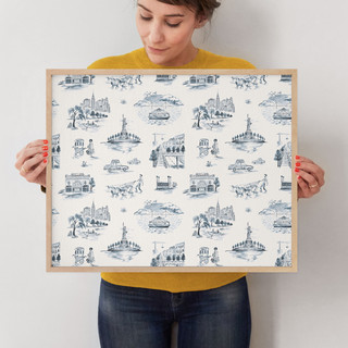 """NYC Modern Toile by Surface Love: 16"""" x 20"""" @ $78.00"""