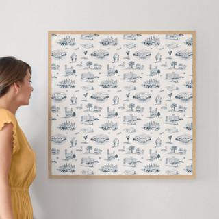 "Atlanta Modern Toile by Surface Love: 30"" x 30"" @ $157.00"