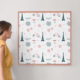"""Oui Oui by Kirstie Kern: 30"""" x 30"""" @ $157.00"""