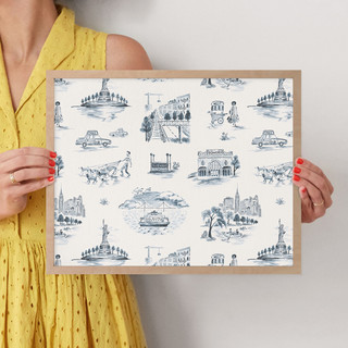 """NYC Modern Toile by Surface Love: 11"""" x 14"""" @ $66.00"""