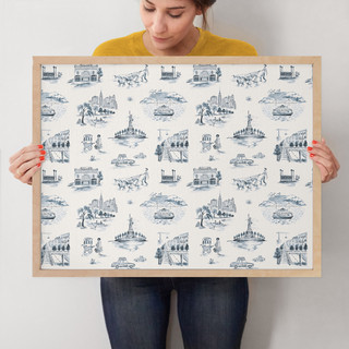 """NYC Modern Toile by Surface Love: 18"""" x 24"""" @ $94.00"""
