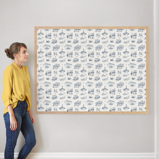 """NYC Modern Toile by Surface Love: 40"""" x 54"""" @ $230.00"""