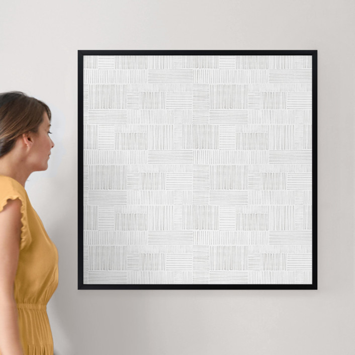 """Stick Stacked by Kelly Williams: 30"""" x 30"""" @ $157.00"""