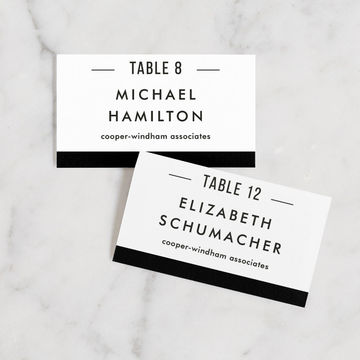 """""""Black Tie"""" - Classical, Simple Wedding Place Cards in Bowtie by Jessica Williams."""