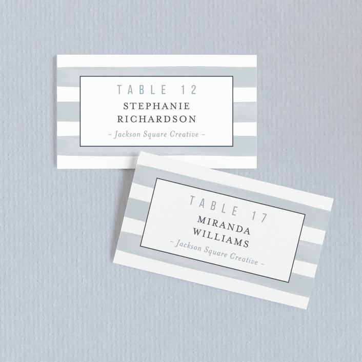 """""""Brushstroke"""" - Beach Wedding Place Cards in Fog by Shari Margolin."""
