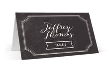This is a black wedding place card by chocomocacino called Merlot with standard printing on signature in placecard.