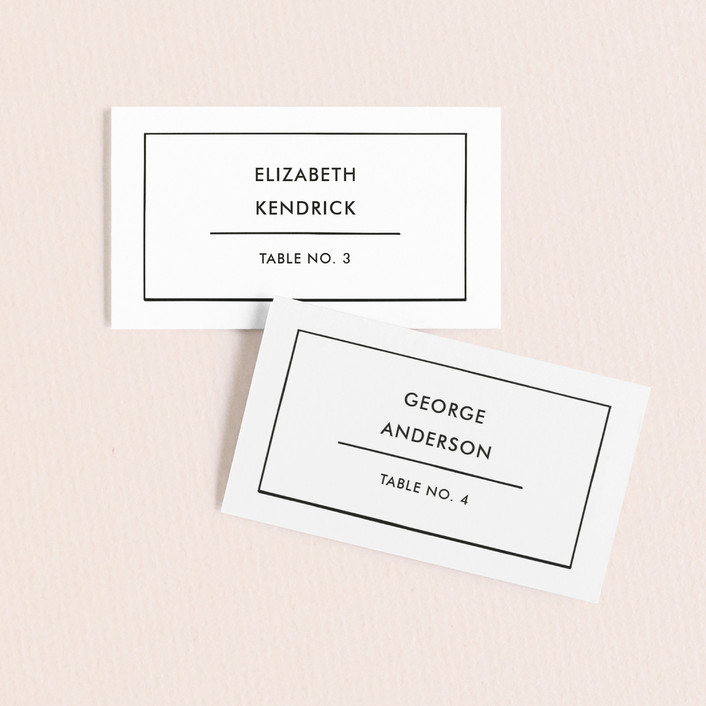 """Feast"" - Wedding Place Cards in Ink by Marabou Design."