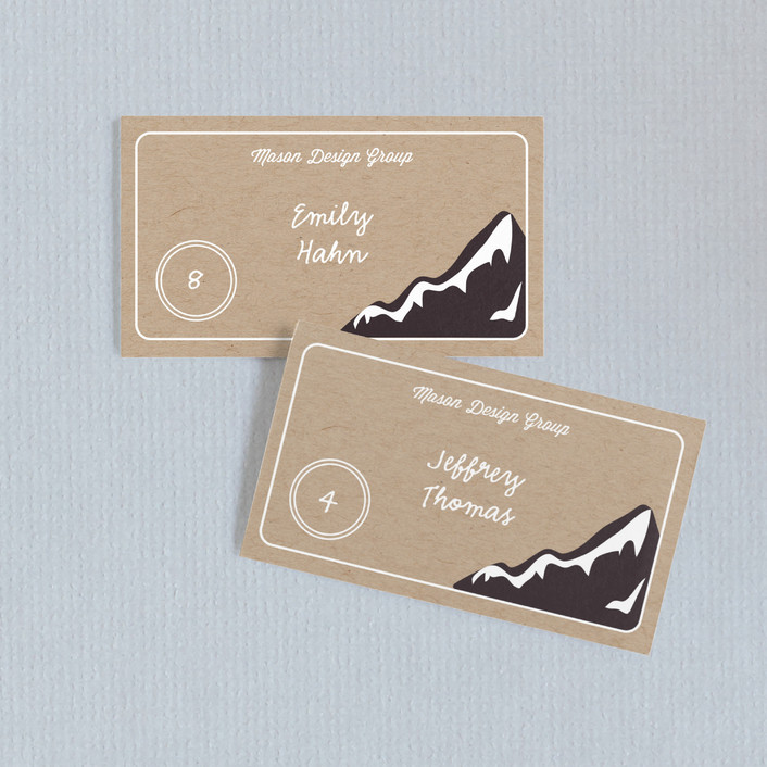 """Mountain"" - Wedding Place Cards in Kraft by design market."