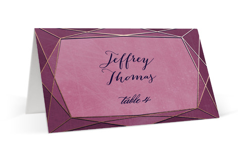 Abstract Jewel Place Cards