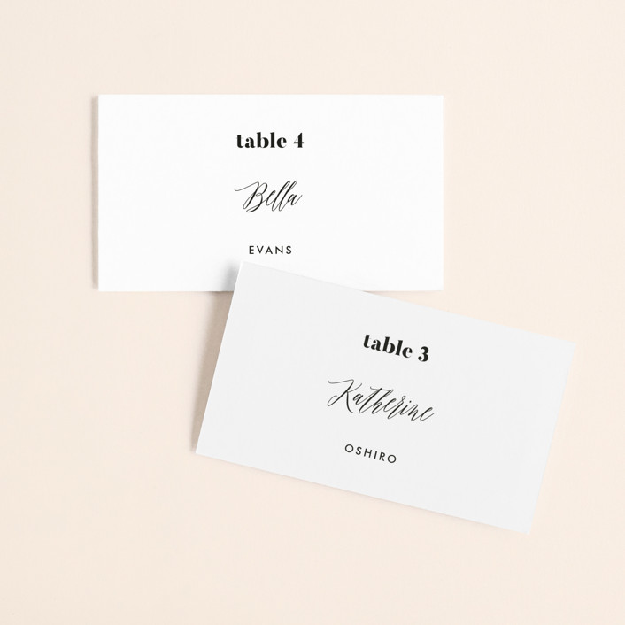 """Nolita"" - Wedding Place Cards in Silk by Annie Clark."