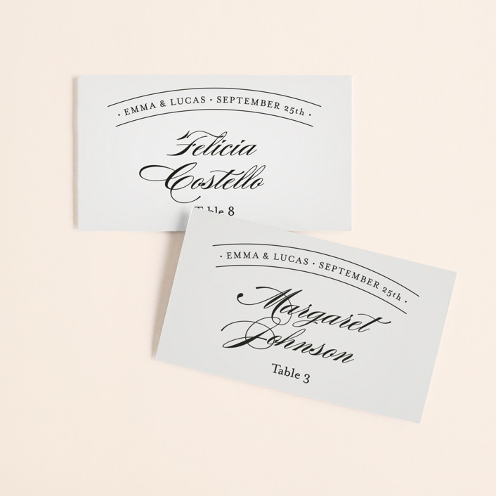 """""""Big City - Philadelphia"""" - Wedding Place Cards in Light Taupe by Hooray Creative."""