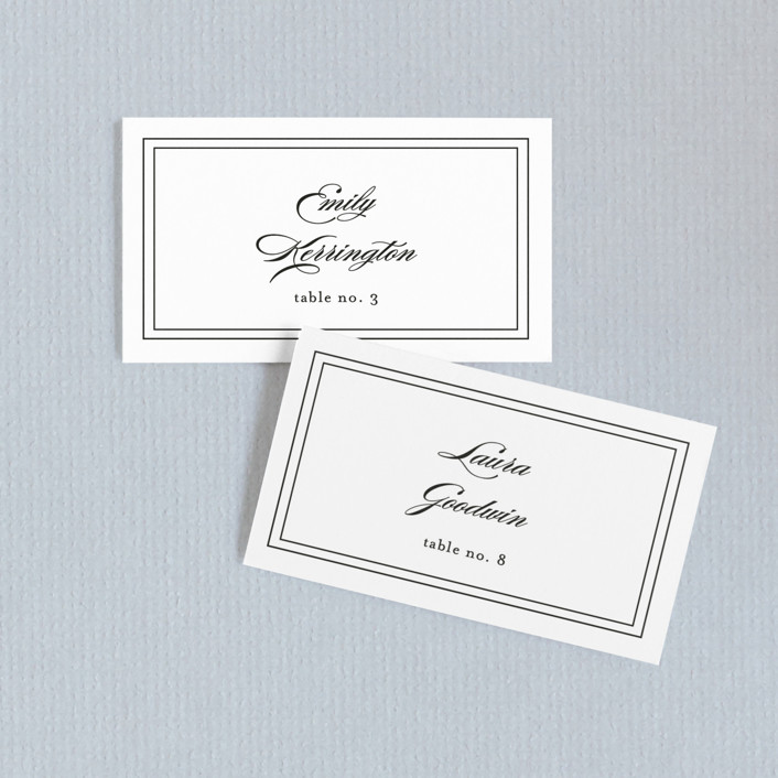 """""""Eloquence"""" - Wedding Place Cards in Vanilla by Kimberly FitzSimons."""