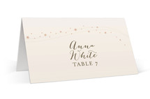 This is a pink wedding place card by Jody Wody called Enchanted Stars with standard printing on signature in placecard.