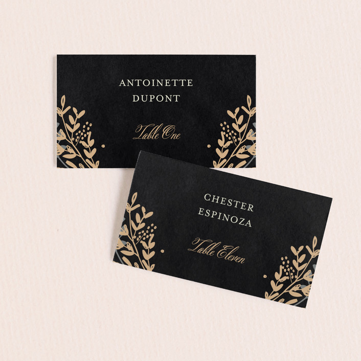 """Jardin Nocturne"" - Wedding Place Cards in Ink by Bonjour Paper."