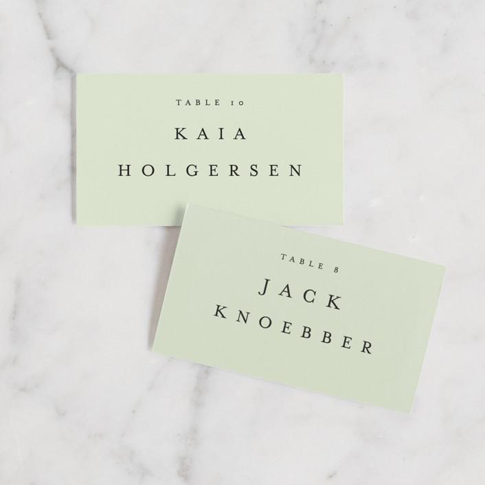 """Johannis"" - Wedding Place Cards in Ink by Jack Knoebber."