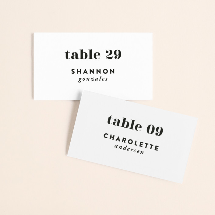 """Key Ingredients"" - Wedding Place Cards in Cotton by Christie Garcia."