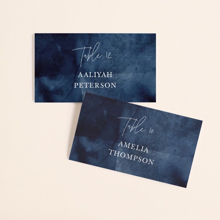 """""""Plain and Simple"""" - Wedding Place Cards in Sapphire by Chris Griffith."""