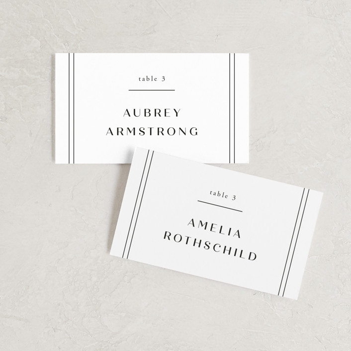 """Arguello"" - Wedding Place Cards in Diamond by Annie Shapiro."
