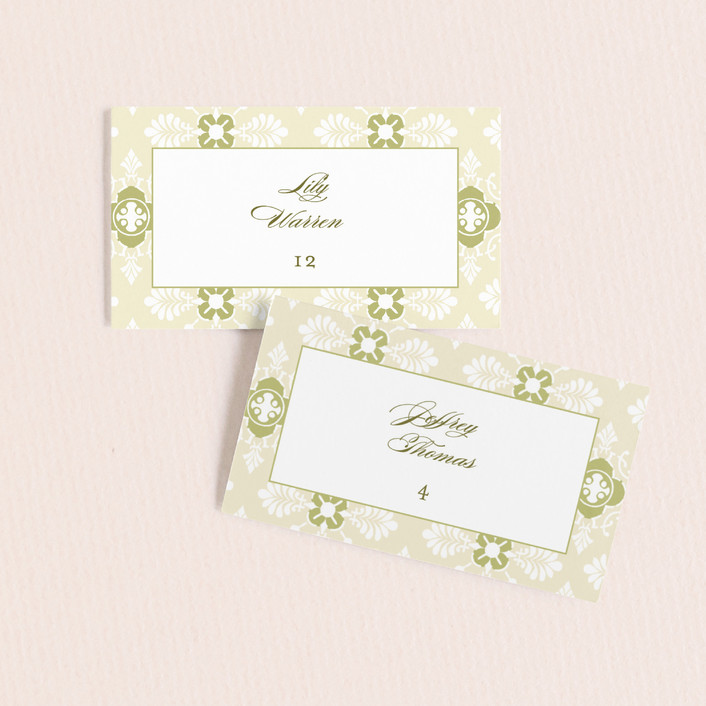 """Sloane"" - Wedding Place Cards in Helios by Dauphine Press."