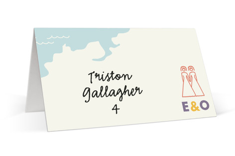 Two Brides Destination Place Cards