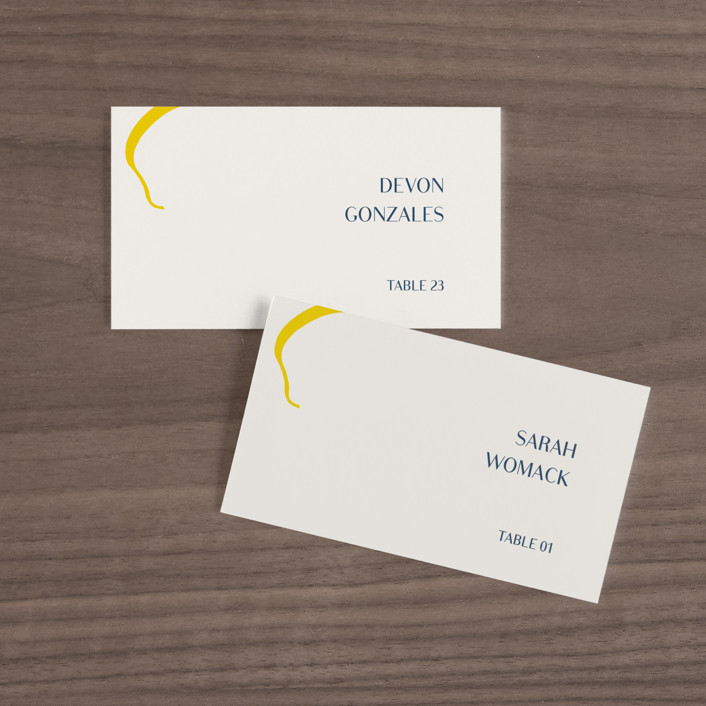 """""""Ophelia"""" - Modern Wedding Place Cards in Golden by Mere Paper."""