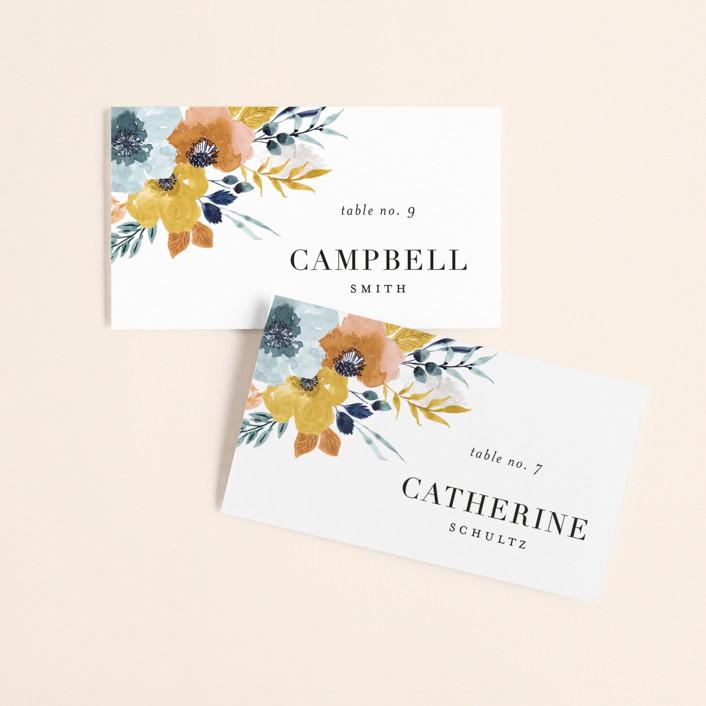 """Daydream"" - Wedding Place Cards in Honey by Beth Schneider."